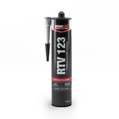 Bondloc RTV123 Black Silicone 310ml