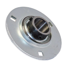 SBPF206 30mm Pressed Steel Round 3 bolt Flanged