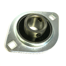 SBPFL204 Oval 2 Bolt Pressed Steel Bearing Housing with 20mm insert