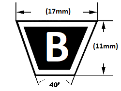 B section v belt