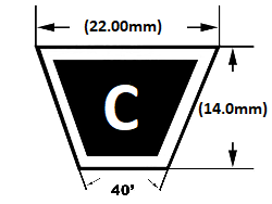 C section v belt